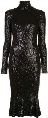Norma Kamali Overlapping fishtail dress