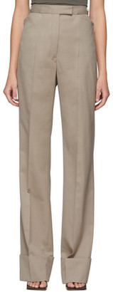 Lemaire Beige Wool Straight Trousers