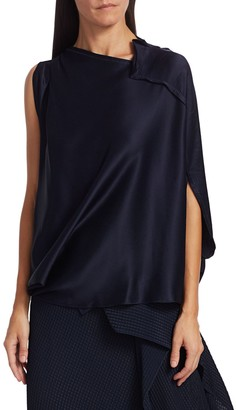 Roland Mouret Hopkins Asymmetric Draped Top