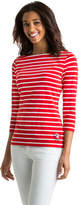 Vineyard Vines America's Cup Stripe 3/4-Sleeve Stretch Knit Top