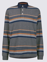 Blue Harbour Big & Tall Pure Cotton Striped Rugby Top