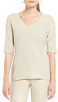 Sigrid Olsen Signature Elbow Sleeve Pullover Knit Top