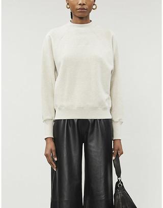 LES COYOTES DE PARIS Milou logo-embroidered cotton-jersey sweatshirt