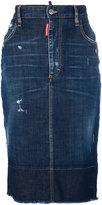 DSQUARED2 denim skirt - women - Cotton/Polyester/Spandex/Elastane - 40