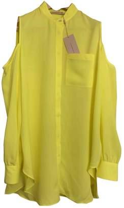 Christopher Kane \N Yellow Silk Top for Women
