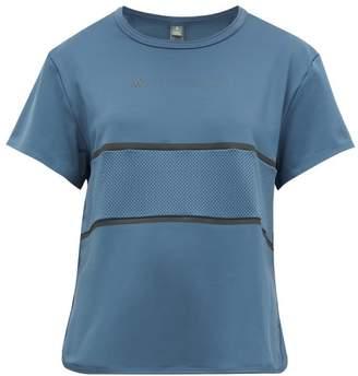 adidas by Stella McCartney Run Mesh-panel T-shirt - Womens - Blue