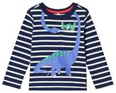 Joules Navy Stripe Dino Jersey Long Sleeve T-Shirt