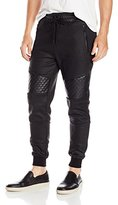 GUESS Men's Logan Fleece Moto Jogger