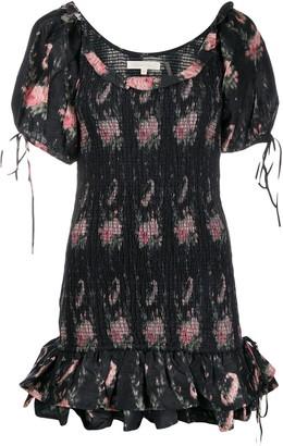 LoveShackFancy Violet silk dress