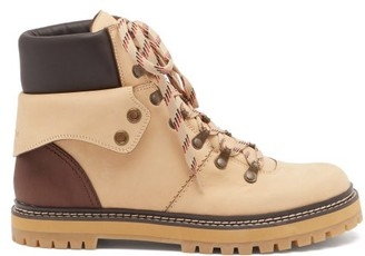 See by Chloe Eileen Leather Hiking Boots - Beige