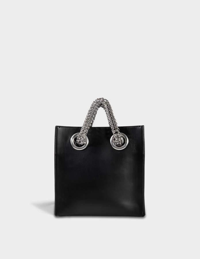 Alexander Wang Genesis Shopper Bag in Black Calfskin