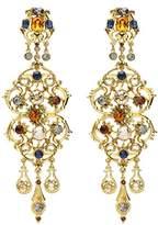 Ben-Amun Women's Arabian Nights Gold and Sapphire Crystal Chandelier Clip-On Earrings