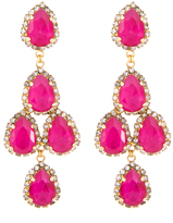 Erickson Beamon Duchess of Fabulous Earrings, Pink