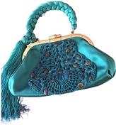 Gucci Turquoise Silk Clutch bag