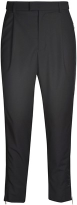 Les Hommes Side Cuts Contrast & Zip Trousers