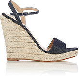 Barneys New York Women's Fania Platform Wedge Sandals-NAVY