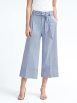 Banana Republic Stripe Belted Wide-Leg Crop