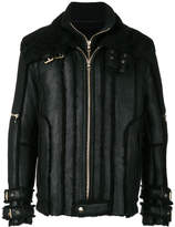 Balmain shearling lined aviator jacket
