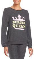 Wildfox Couture Burger Queen Graphic Sweatshirt