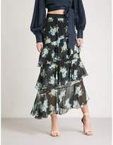 Zimmermann Breeze tiered high-rise silk-georgette skirt