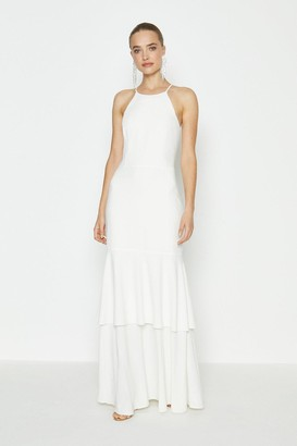 Coast Halterneck Tiered Hem Maxi Dress