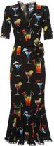 Dolce & Gabbana Italian Cocktail V-Neck Dress