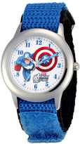 Marvel Captain America Flying Kids Blue Nylon Strap Watch