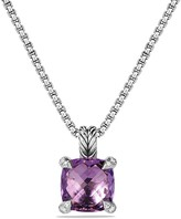 David Yurman Ch'telaine Pendant Necklace with Amethyst and Diamonds