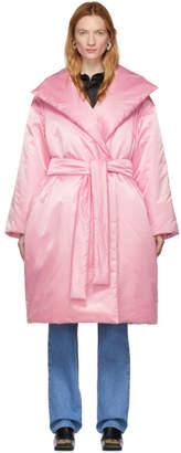 Balenciaga Pink Padded Wrap Coat