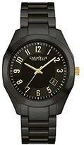 Bulova Women's Quartz Ceramic Casual Watch, Color:Black (Model: 45M109)