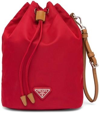 Prada Small Nylon Bucket Bag