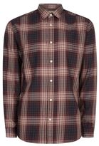 Selected Check Button Up Shirt
