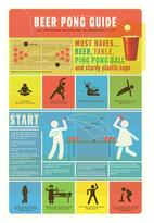 Wallcandy Beer Pong Guide Decal
