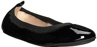 Yosi Samra Girls' Ballet Flats BLACK - Black Patent Miss Samara Flat - Girls
