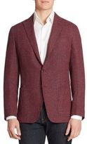 Saks Fifth Avenue Collection Single-Breasted Wool & Silk Blend Blazer