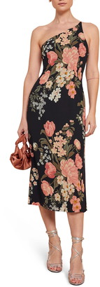Reformation Eastside Floral One-Shoulder Midi Dress