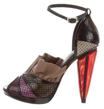 Rodarte Leather Ruffle-Accented Sandals w/ Tags