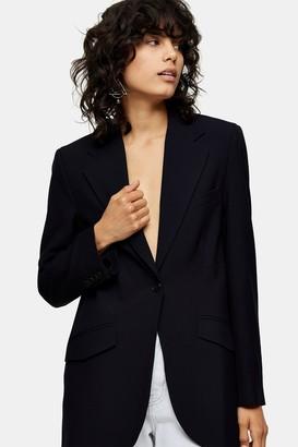 Topshop Navy Suit Blazer