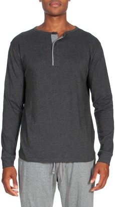 Unsimply Stitched Long Sleeve Light Weight Henley