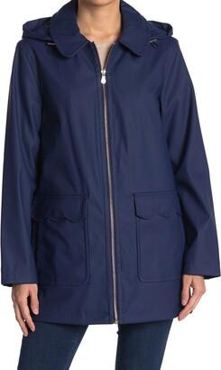 Kate Spade Hooded Matte Rain Coat