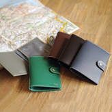 Undercover Recycled Leather Snap Close Passport Cover