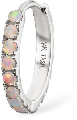 Maria Tash White Gold And Opal Eternity Ring