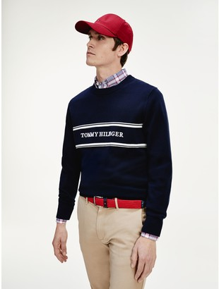 Tommy Hilfiger Relaxed Fit Embroidered Logo Sweater