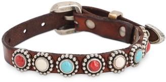 Campomaggi Studded Laser-cut Leather Bracelet