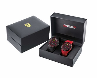 Ferrari Quartz Watch with Silicone Strap Black 20 (Model: 0870038)