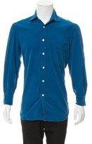 Kiton Corduroy Button-Up Shirt