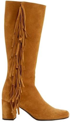 Saint Laurent \N Yellow Suede Boots
