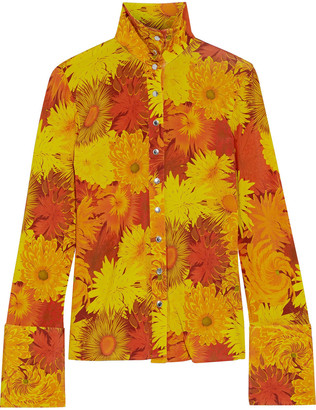 Ellery Sala Floral-print Stretch-jersey Turtleneck Top