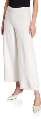 Joan Vass Petite Wide-Leg Ankle Pants