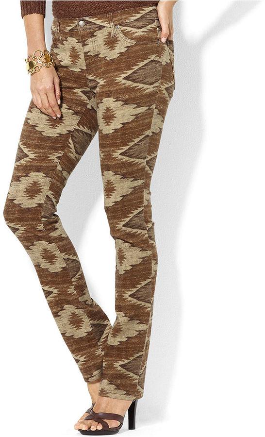 Lauren Ralph Lauren Petite Jeans, Skinny Printed